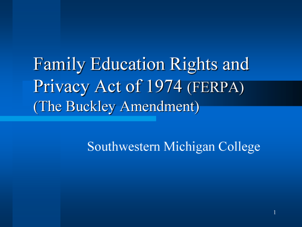 Family Education Rights and Privacy Act of 1974
